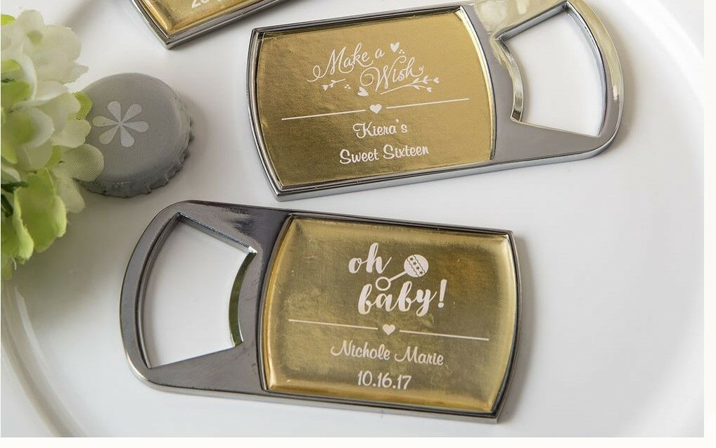 25 Personalized Bottle Openers Wedding Bridal Baby Shower Birthday Party Favors