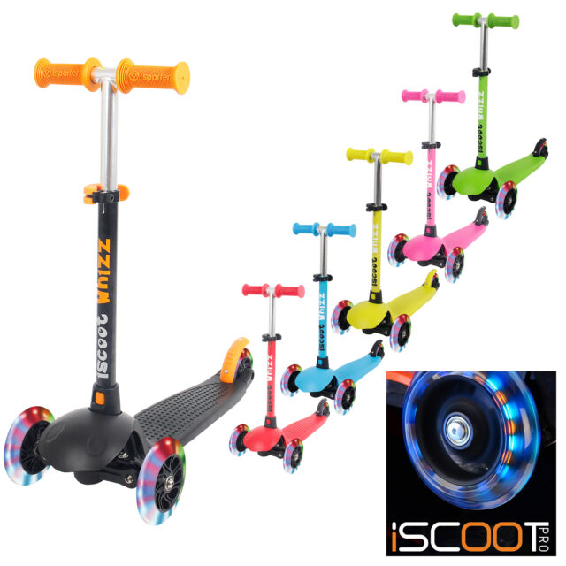 Kids Mini Scooter Tilt Kickboard T-Bar 3 Wheel Kick Bobbi Board LED Wheels