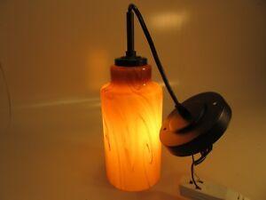 Hanging Pendant  Art Glass Light