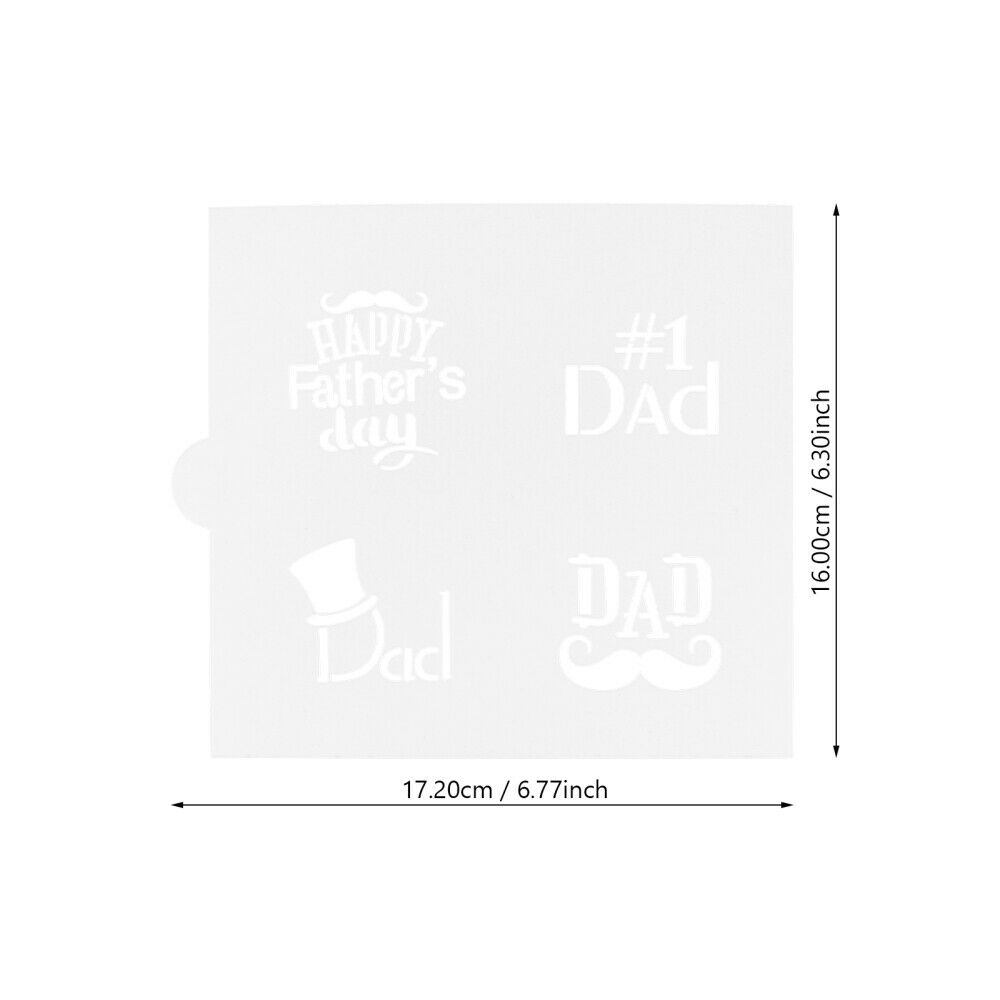 1pc Lightweight Decorative Cookie Stencil Plastic for Cake Cookie