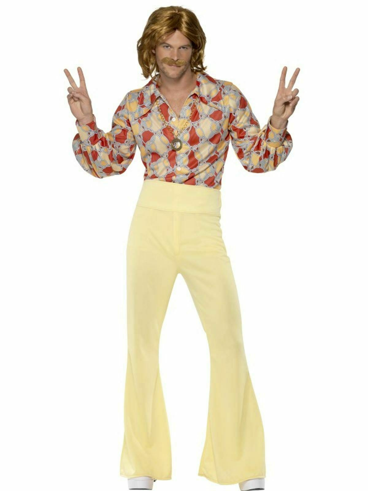 1960s 1970s  Hippy hippie Groovy    Mens Fancy Dress Stag Party Costume Outfit eb57fd
