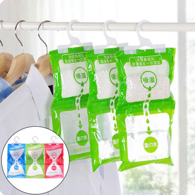 Desiccant bag household wardrobe closet hanging moisture absorbent dehumidifieHI