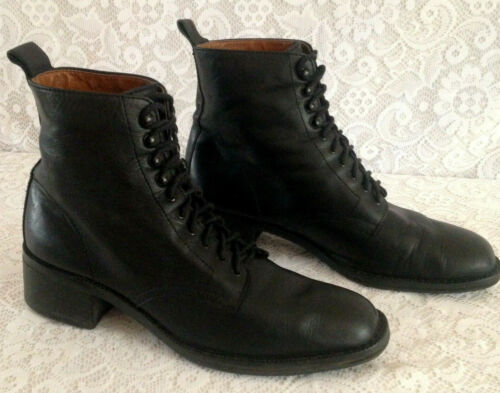 Vintage 80's Hunt Club Whitney Black Leather Lace