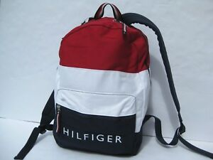 53e76fc27c9 Image is loading Tommy-Hilfiger-Backpack-Large-Bag-Logo-Flag-Backpacks-
