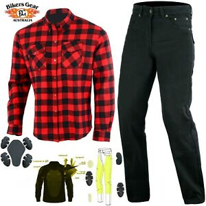 Australian-Bikers-Gear-Motorcycle-Trouser-and-Shiirt-Lined-with-KEVLAR-Fiber