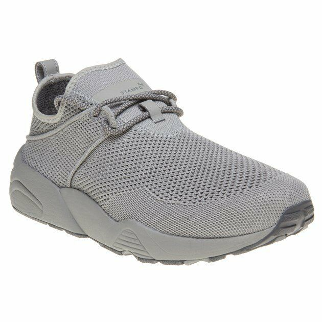 New MENS PUMA X STAMPD GRAY TRINOMIC WOVEN NYLON Sneakers Retro