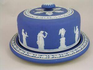 EARLY-WEDGWOOD-BLUE-JASPERWARE-CLASSICAL-MUSES-COVERED-CHEESE-DISH
