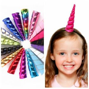 Beautiful-Unicorn-HornHalloween-Headwear-Kids-Bonus-DIY-Headband-Hair-Decorative