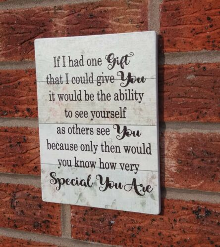 If I had one gift I could give you special person shabby vintage chic plaque