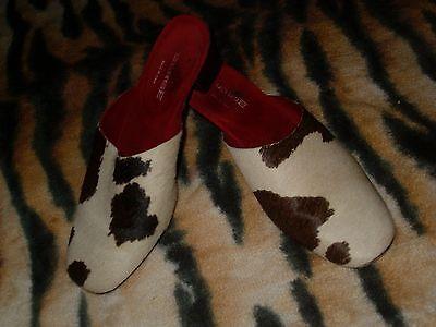 zapatos o cuecos pelo 129EUR BERGE tacon talla 36 negro y blanco ver fotos varias