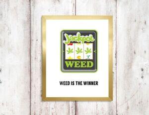 MARIJUANA-WEED-RASTA-POSTER-ART-PRINT-PICTURE-a4-funny-unframed-spliff-drug-85