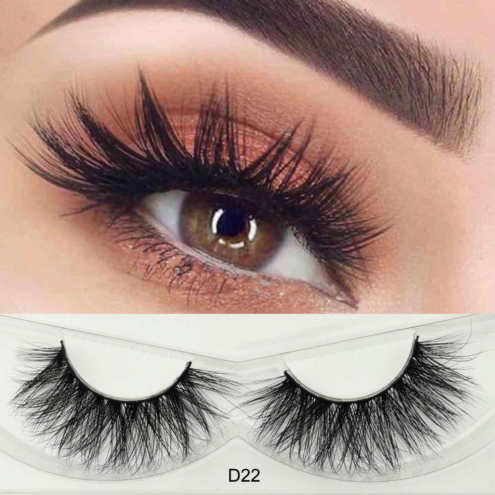 1db5f6bcb12 False Eyelashes 100 Siberian Mink Hair Fluffy Cross Lashes for Eyes D22 for  sale online | eBay