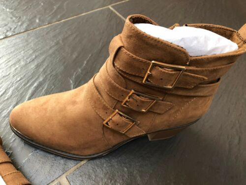 brunes dames boucle Uk Eur en Look pour Bottines 41 brunes New triple à 8 daim wZ1qHz