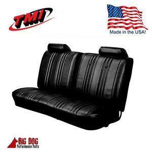 1969 Chevy El Camino Front Bench Seat Upholstery Black