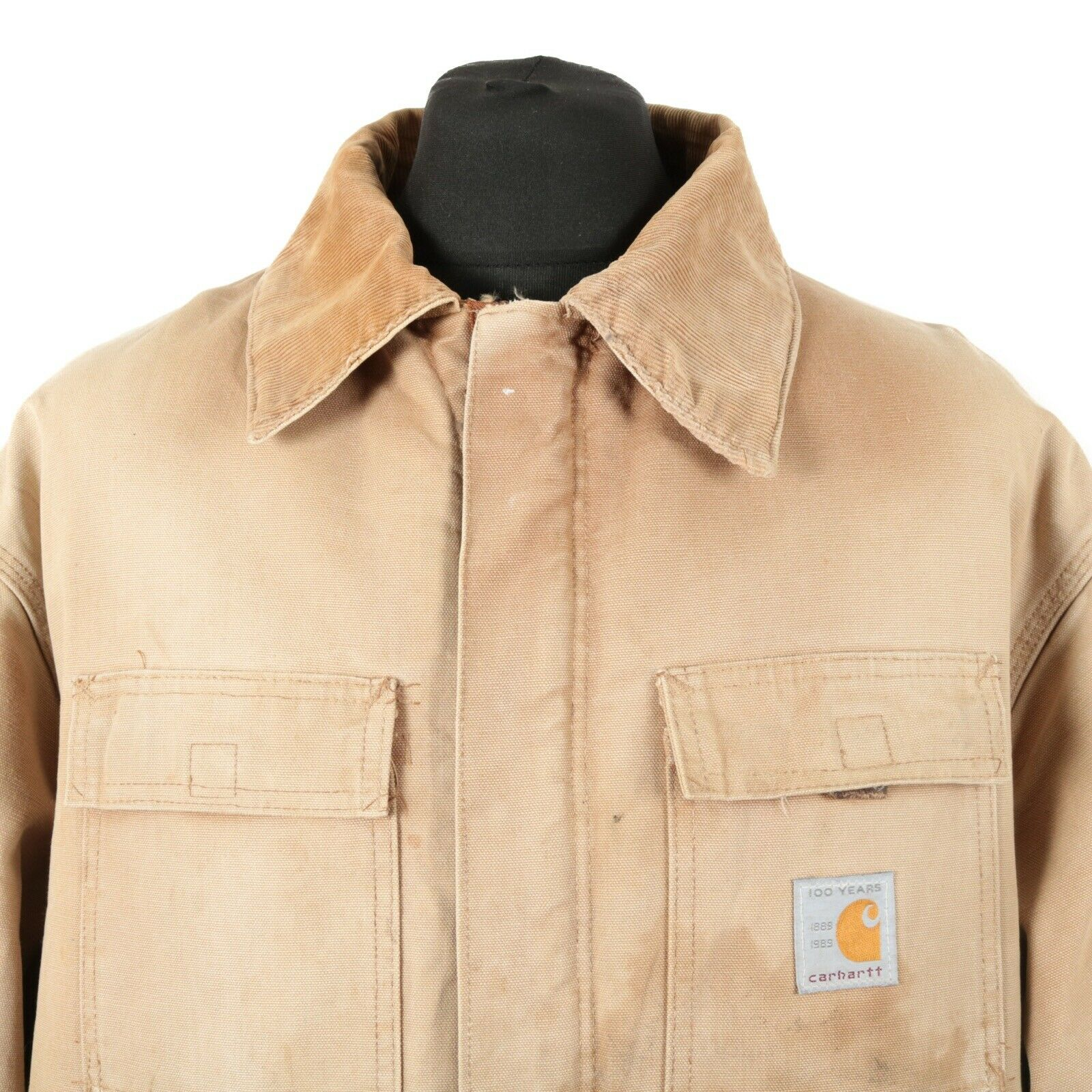 80s Vintage CARHARTT 100 Year Quilted Chore Jacket   Workwear Work Wear Coat