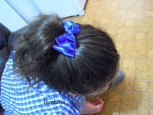 Jemlana/'s handmade triple layer satin ribbon hair tie for school girls...