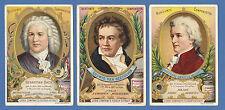 LIEBIG  -  RARE SET OF 6 CARDS - S 374 / F 375  -  FAMOUS  COMPOSERS  I  -  1893
