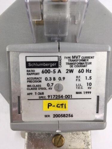 Schlumberger 600:5 MV7 Current Transformer