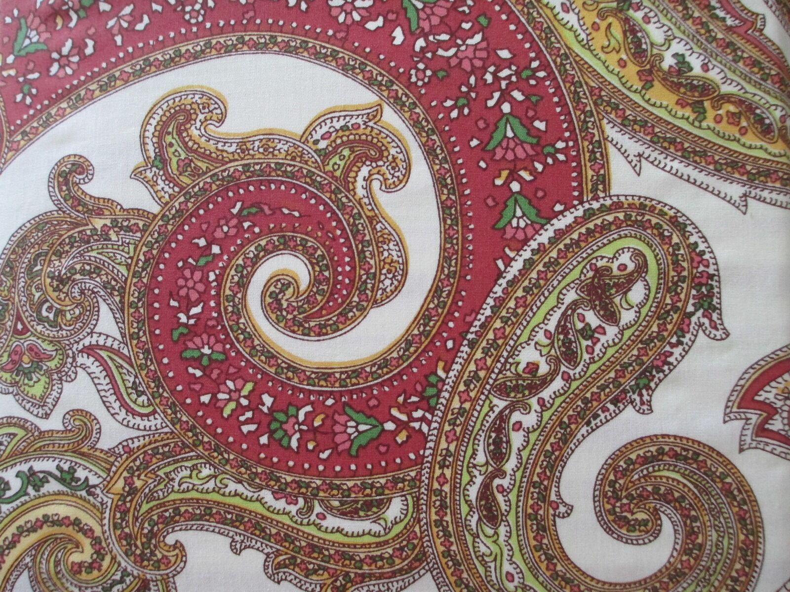 New RALPH LAUREN Cotton 3pc Duvet Set Red Mgoldccan Paisley Floral - Full Queen