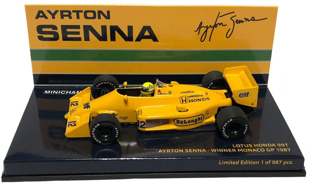 MINICHAMPS LOTUS  HONDA 99 T  12 Winner Monaco GP 1987-Ayrton Senna échelle 1 43  vente en ligne
