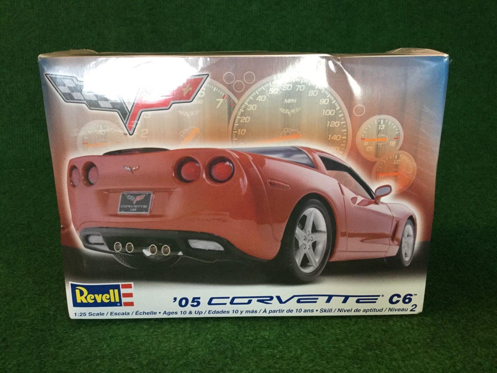 Revell Motor Sports '05 Corvette C6 Model Kit 1 25 Boxed