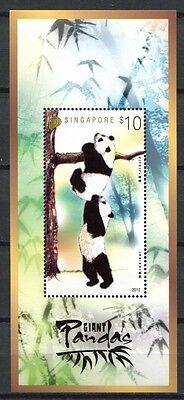 Singapur Singapore 2012 Giant Panda Block im Folder MNH