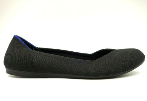 Rothys Black Woven Knit Slip On Casual Flats Shoes