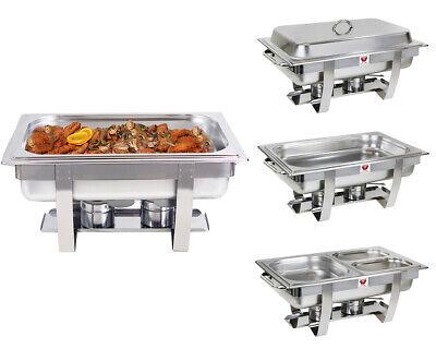 2×9L Chafing Dish Speisenwärmer Warmhaltebehälter Wärmebehälter Xmas Edelstahl