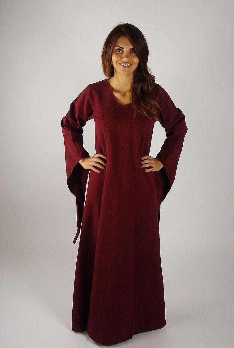 UNTERKLEID rot Kleid Mittelalter Gewandung Kostüm Larp S M L XL XXL XXXL Fee