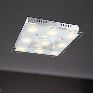 Wofi-LED-Deckenleuchte-Sphinx-9-flg-Chrom-Glas-Eckig-39-cm-45-Watt-3780-Lumen