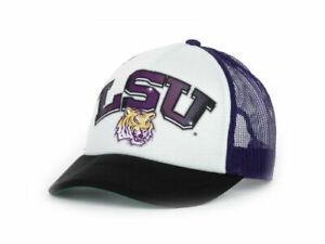 LSU Tigers Louisiana NCAA In the Paint Mesh back Adjustable Foam Trucker Cap Hat