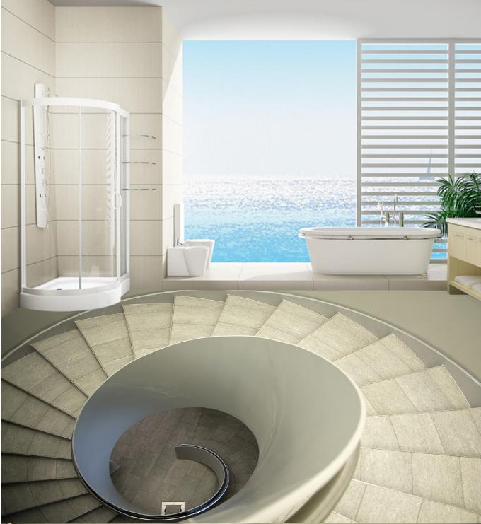 3D Spiral Staircase 5 Floor WallPaper Murals Wall Print 5D AJ WALLPAPER AU Lemon