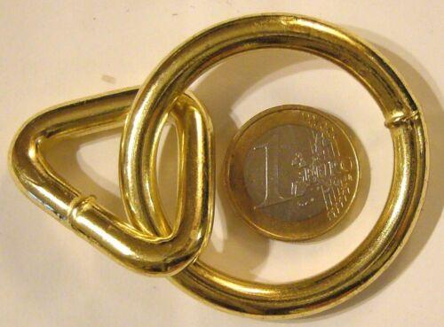 2 x geschweißter Ring m.geschweißter Triangel vermessingt
