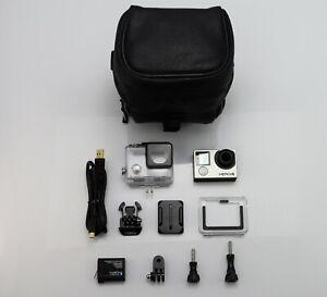 GOPRO HERO 4 BLACK EDITION CAMCORDER 1080P / 4K HD ACTION VIDEO CAMERA SD CARD   eBay