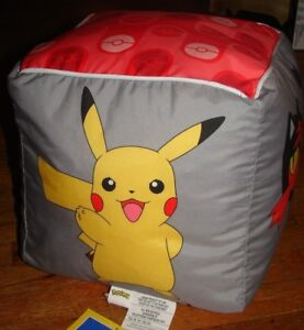 Fabulous Details About Pokemon Bean Bag Square Cube Chair Electric Wave New With Tags Dated 2017 Evergreenethics Interior Chair Design Evergreenethicsorg
