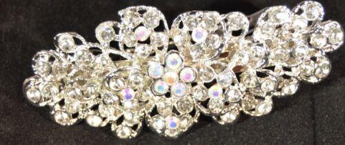 NEW Vintage Cristallo Fiore Barrette Clip Inverno Da Matrimonio Accessorio Per Capelli e diamante
