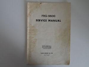 Yaesu frg-9600 service manual pdf download.
