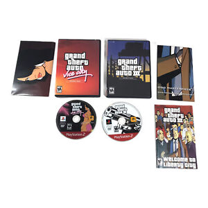 PlayStation 2 Grand Theft Auto Double Pack Vice City and 3 Tested Video Game