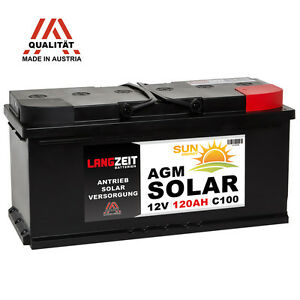 2x solarbatterie 120ah 12v 24v agm gel batterie wohnmobil. Black Bedroom Furniture Sets. Home Design Ideas