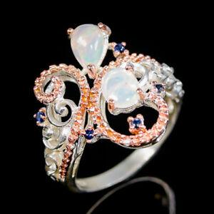 Opal Ring Silver 925 Sterling Jewelry Fine Art Size 8 /R139325