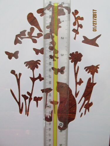 Cat in Nature Stencil Reusable 10 mil Mylar Stencil