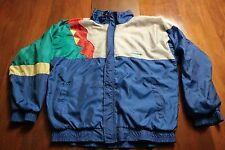 Vintage 80s 90s adidas Windbreaker Jacket Multi-Color Hip Hop Retro L