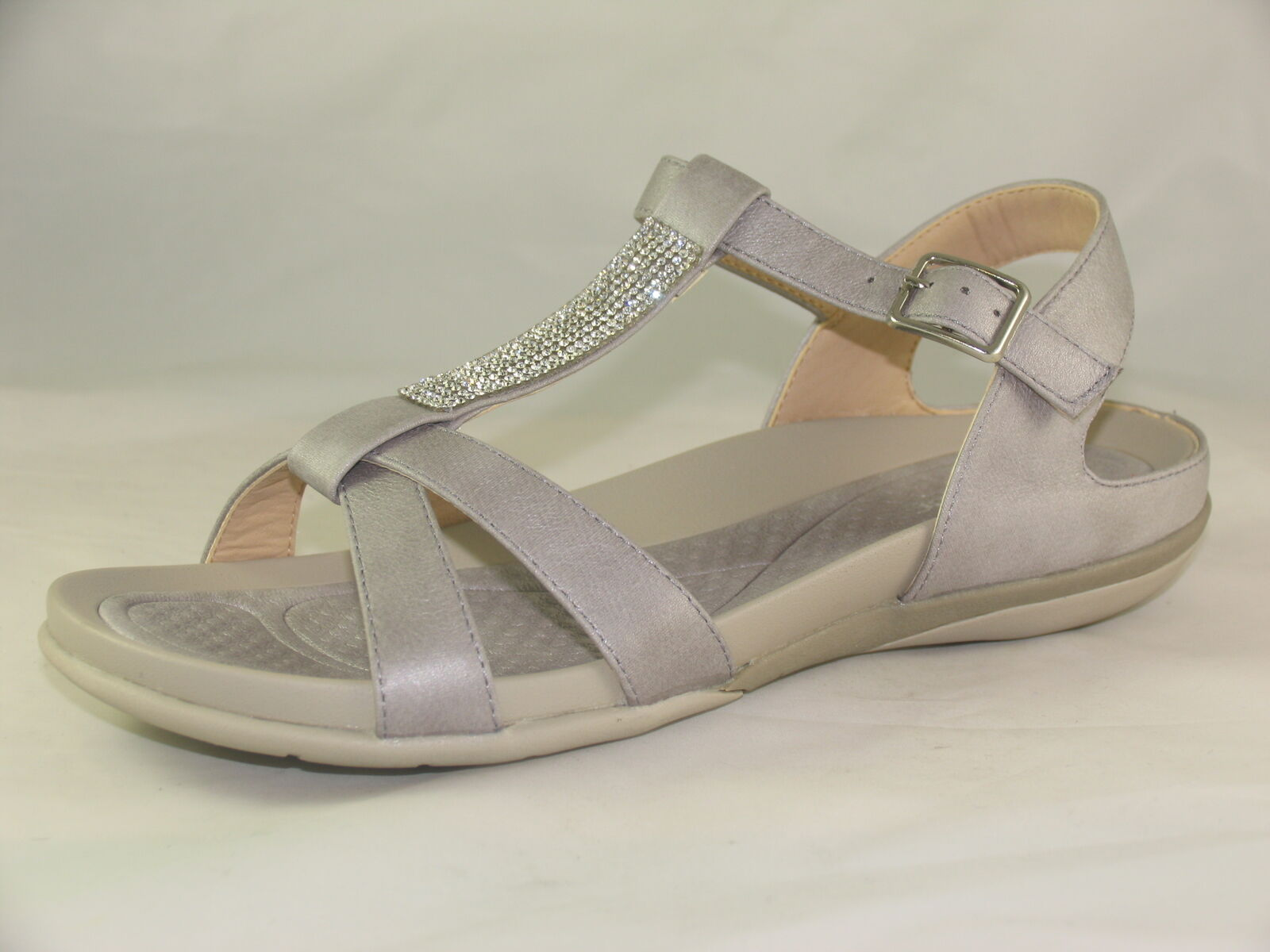 Womens Rieker V9463-42 Grey Casual Open-Toe Sandals