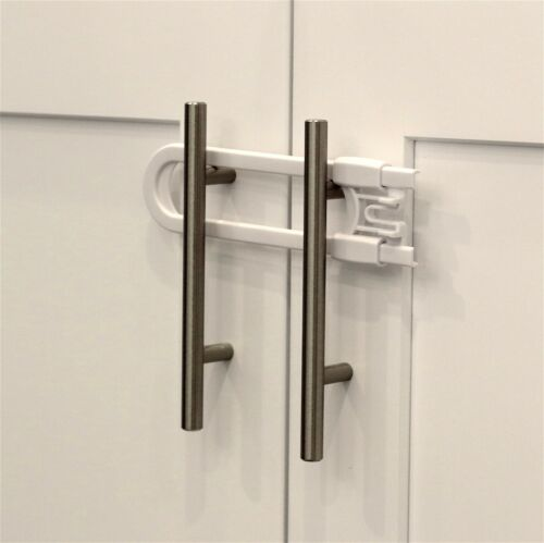 /& Doors Handles - Baby Proof Knobs 4 Pack Child Safety Sliding Cabinet Locks
