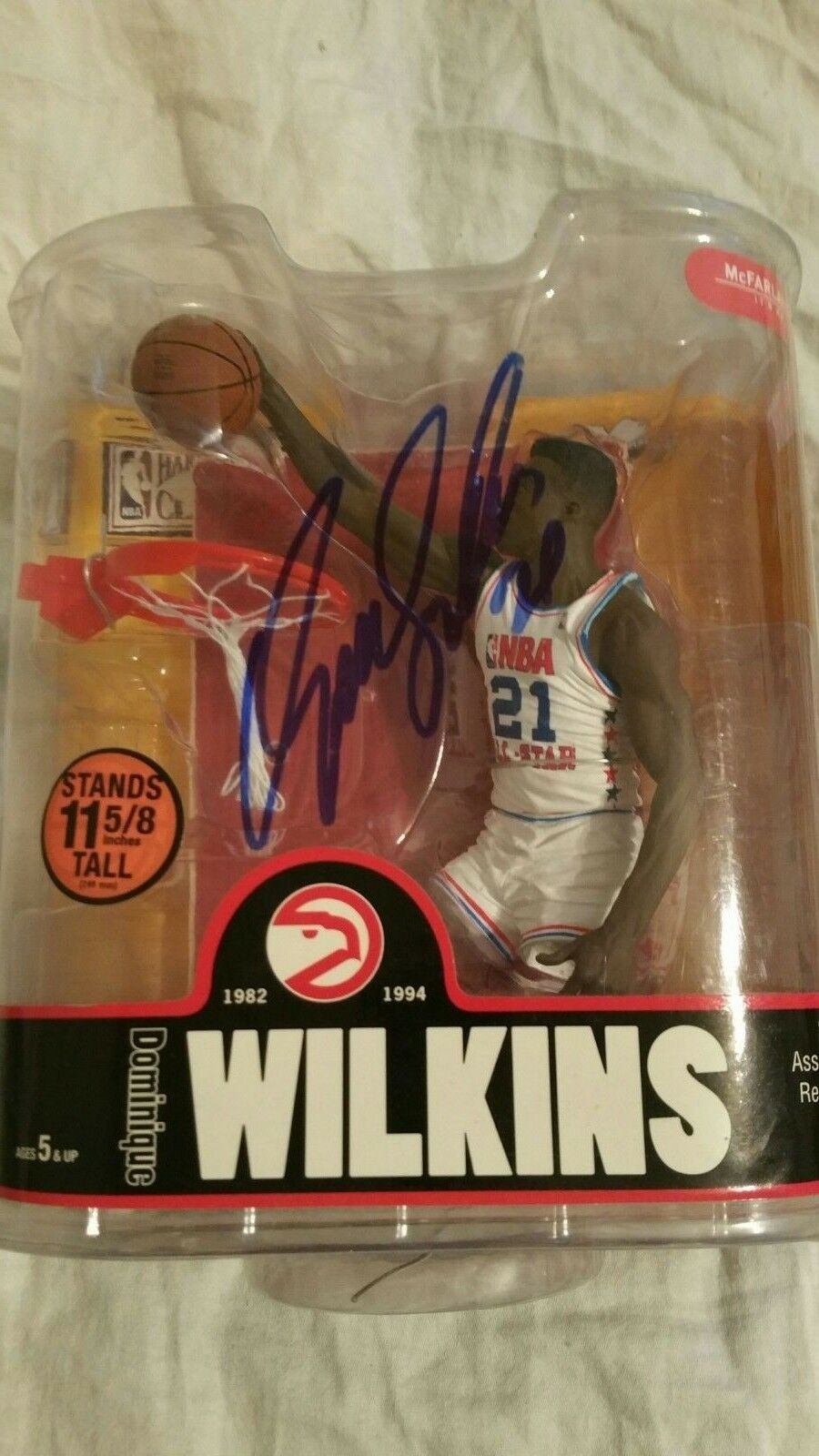 Mcfarlane Dominique Wilkins signed figure all-star uniform chase