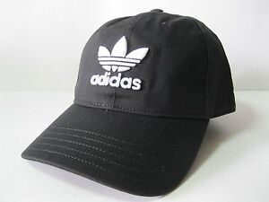 Image is loading Adidas-Originals-Trefoil-Classic-Cap-Black-Gray-Red- fed97ca9901
