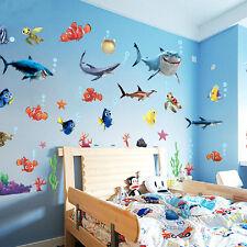 DIY Ocean Sea Fish Vinyl Art Removable Wall Sticker Home Mural Kid Bath Room