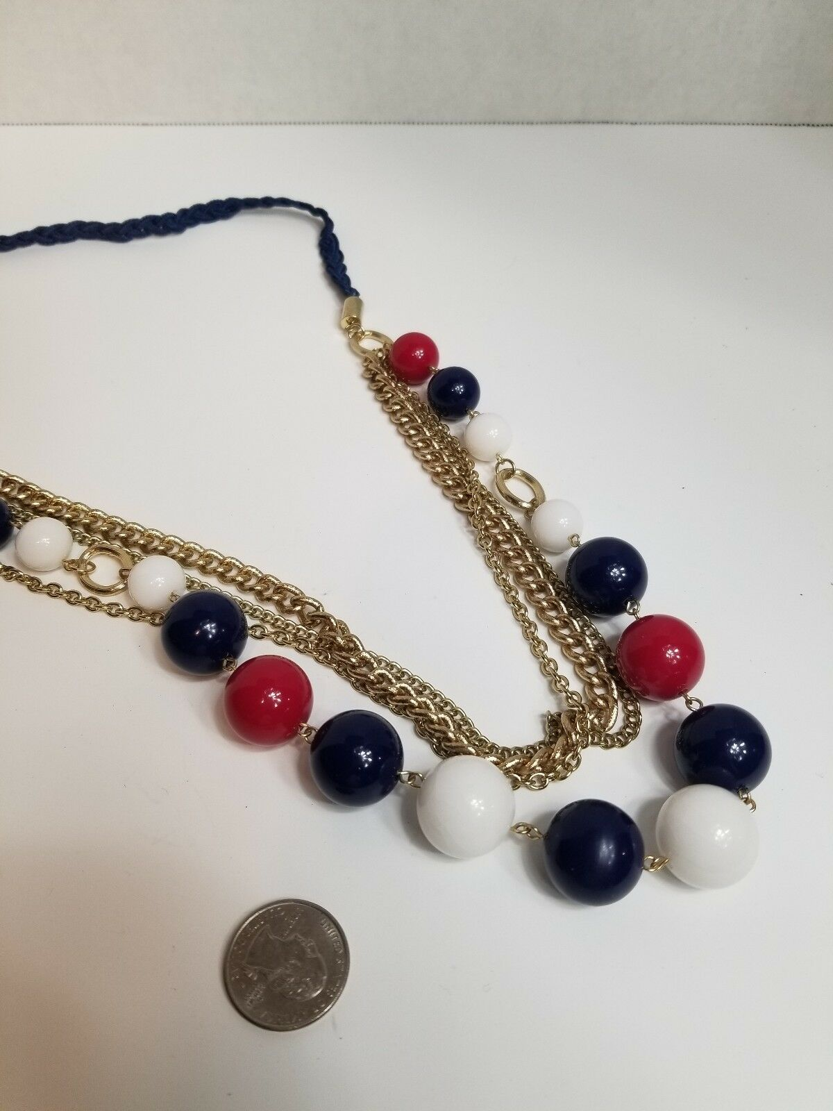 Multi Strand Beaded Chain Necklace - image 3