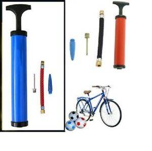 T-Handle-Mini-Bike-Bicycle-Inflating-Sport-Football-Soccer-Tyre-Pump-Colours