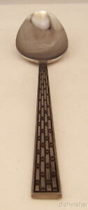 Atkins-Stainless-Steel-LATTICE-WEAVE-Oval-Soup-Spoon-s-7-3-8-034